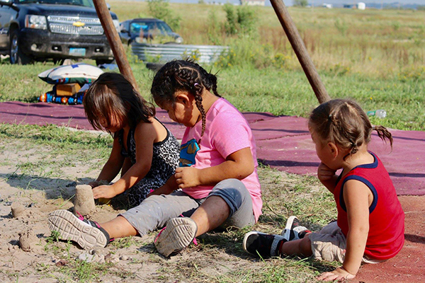 Playtime in South Dakota for Native American children