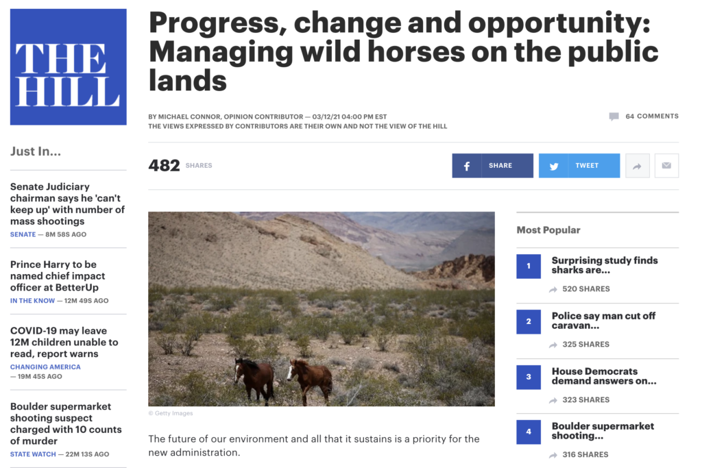 The Hills -Managing wild horses on the public lands